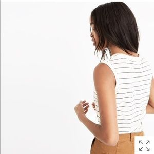 whisper cotton crewneck muscle tank selby stripe